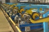 Roller conveyer for transportation of pipes